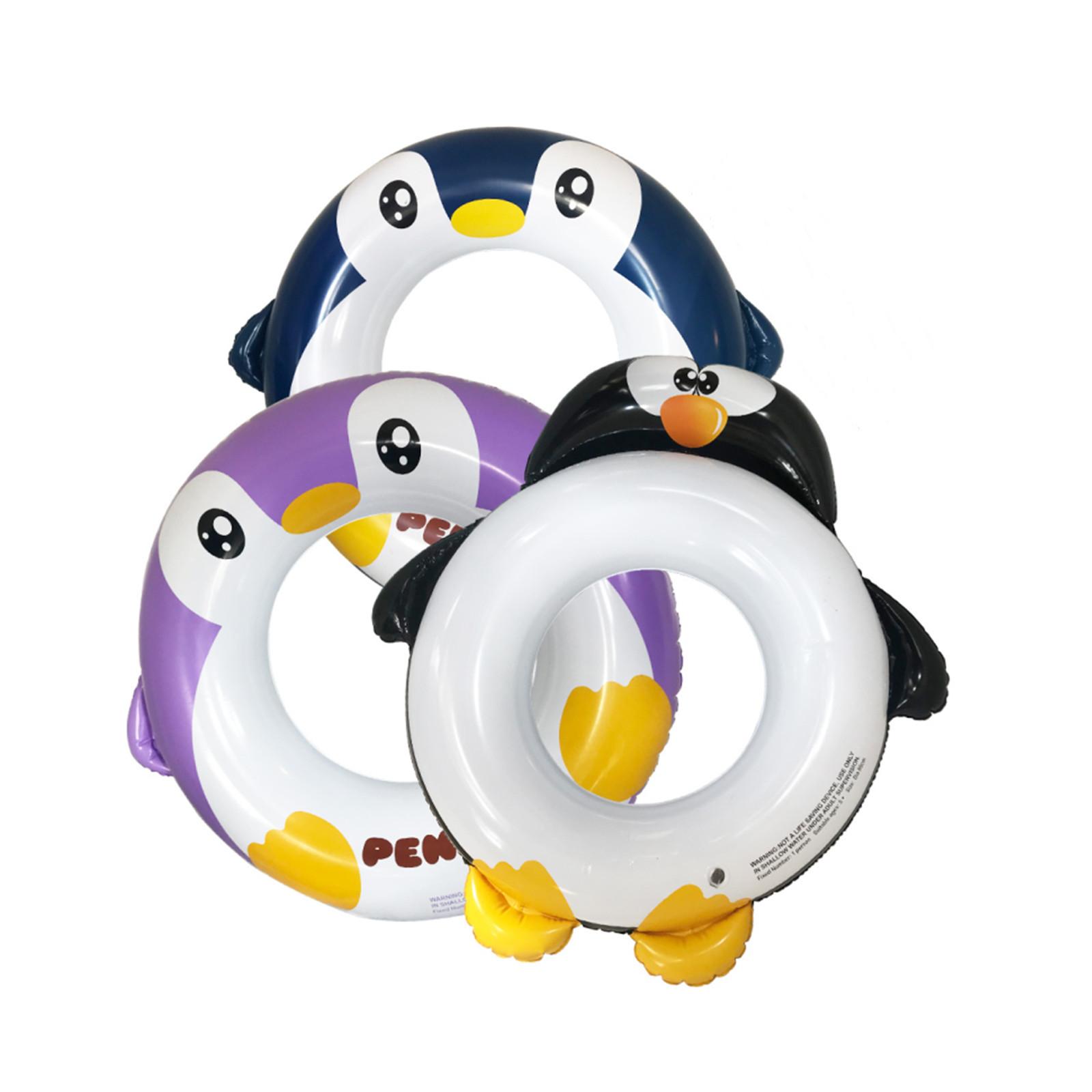 3个装企鹅充气游泳圈, PVC材质加厚儿童游泳圈