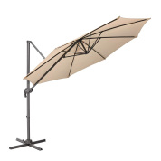 45磅重型10英尺遮阳伞太阳伞市场桌伞,8根铁伞骨,金属框架不带底座,240gsm涤纶布