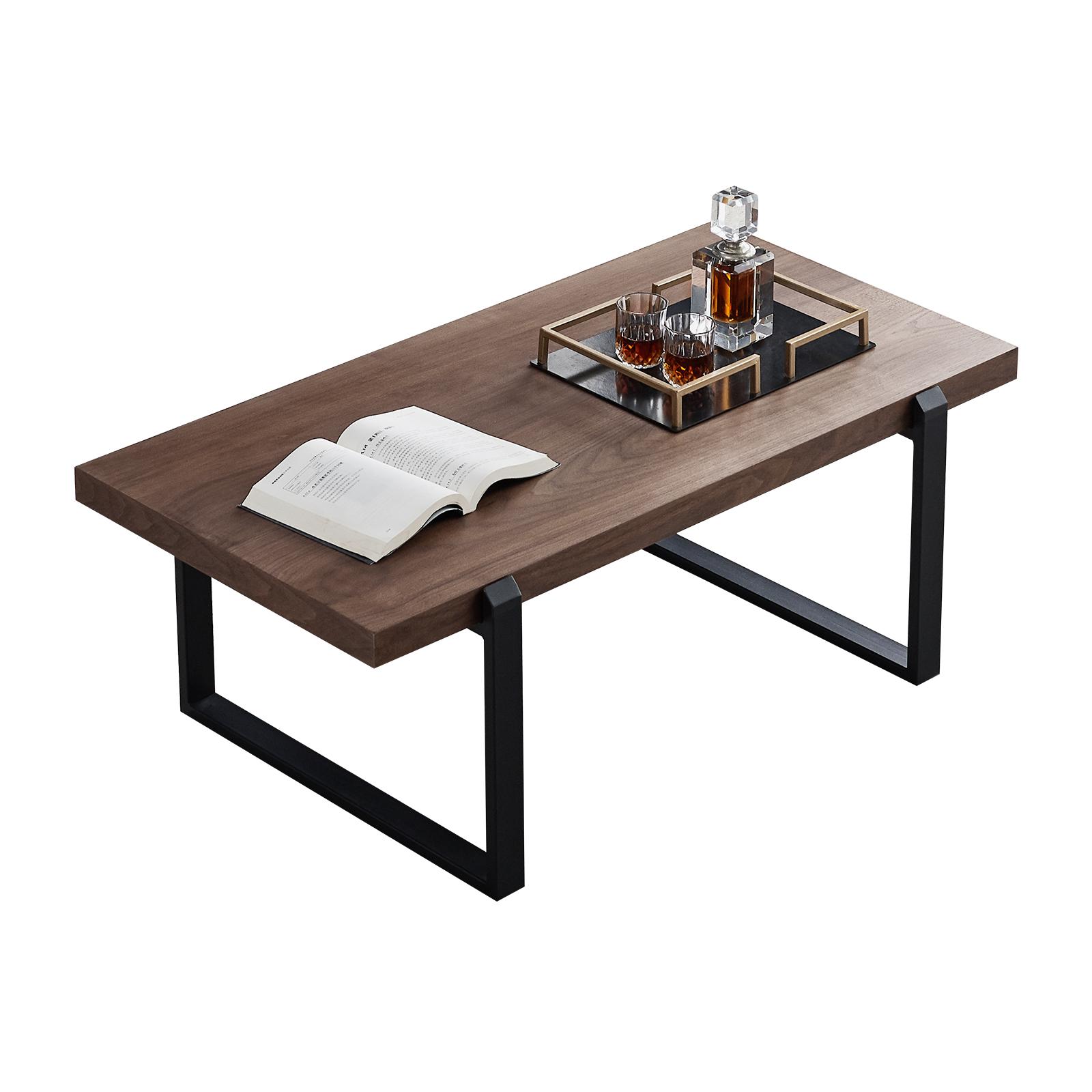 带金属框架的咖啡桌,客厅中心桌/电视架边咖啡桌