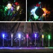5台时尚户外不锈钢彩光太阳能花园灯