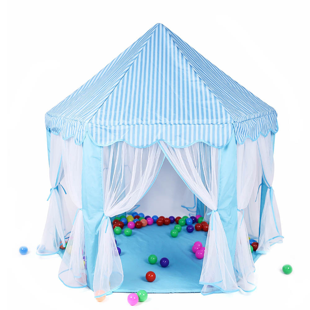 Portable Folding Princess Castle Tent Kids Children Funny Play Fairy House Kids Play Tent with Multicolor Lights