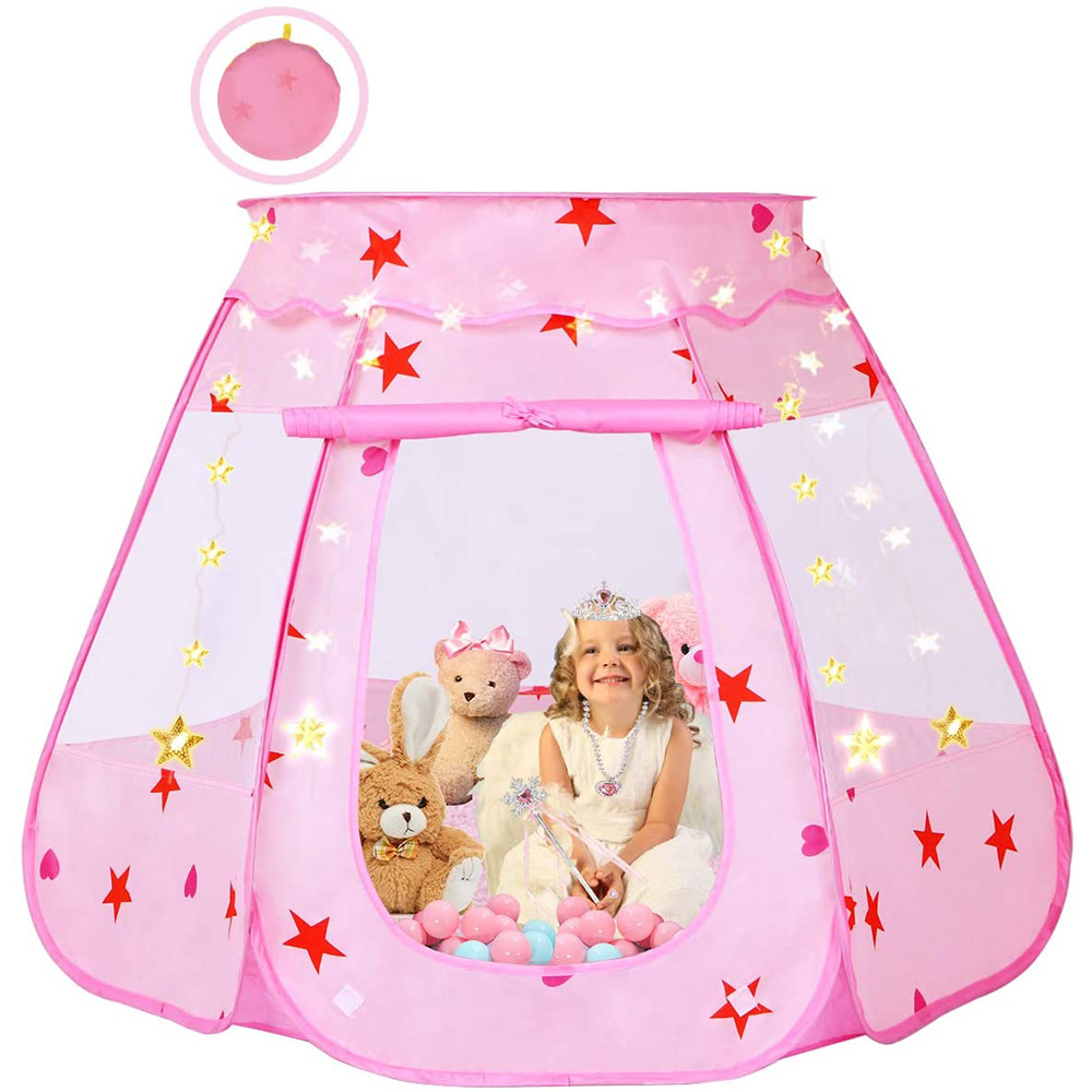 Pop Up Kids Play Tent  for Girls, Foldable and Portable Toddler Girl Toys with a Carrying Bag