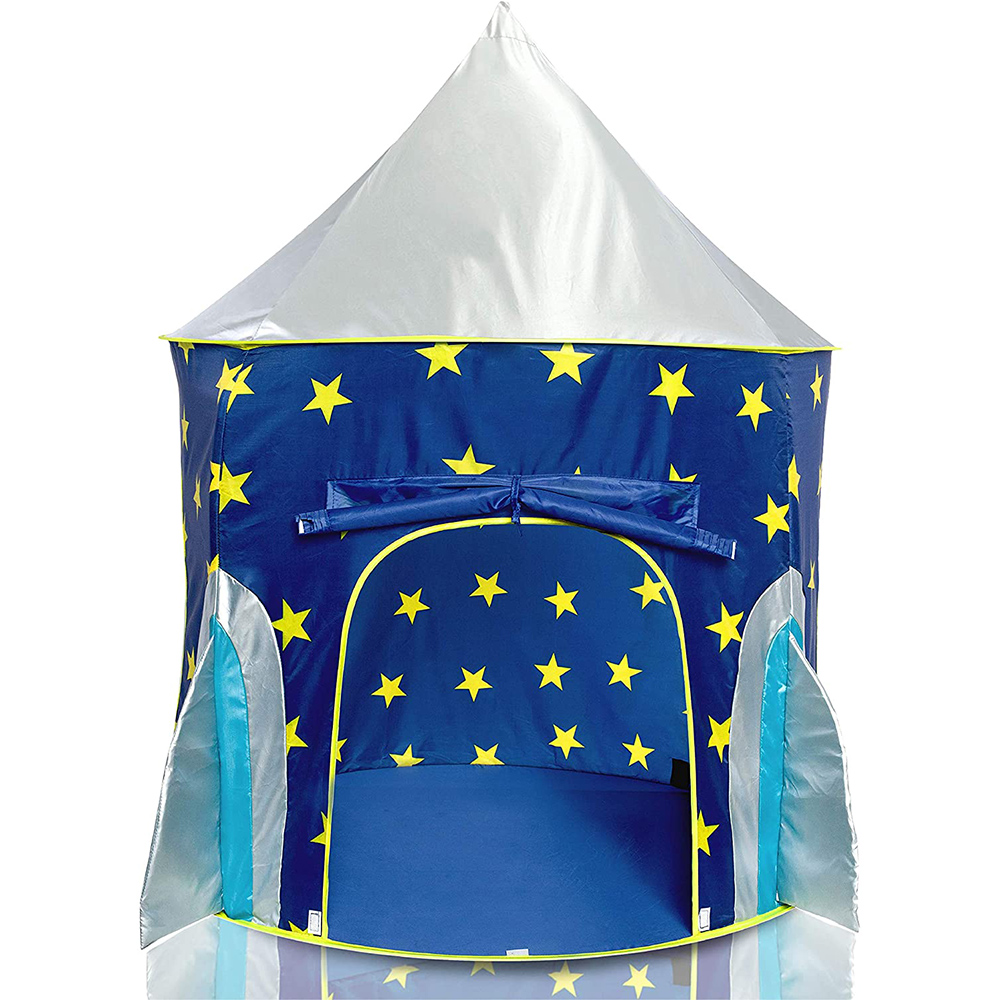 Pop Up Kids Tent - Spaceship Rocket Indoor Playhouse Tent for Boys and Girls