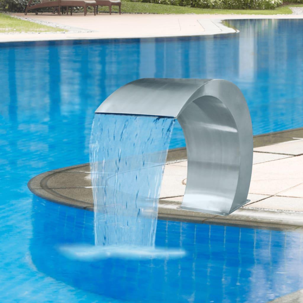 高17.7英寸不锈钢游泳池喷泉