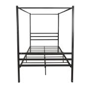 金属蚊帐床全尺寸简约风格框架黑色