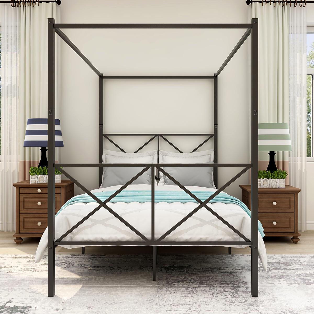 蚊帐床架 全尺寸 现代风格 黑色