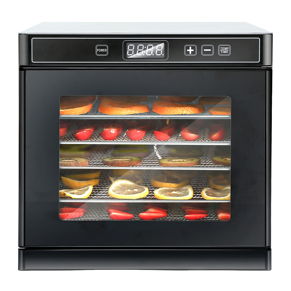食品脱水机配6 个不锈钢托盘50 份食谱适带数字温度烘干机