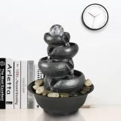 11.4 英寸休闲喷泉带灯适用于办公室家居装饰